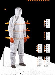 Защитная и специальная одежда. Параметры размеров